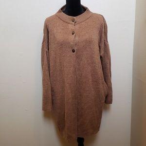Sweaters - Neutral Beige Semi Open Cardigan